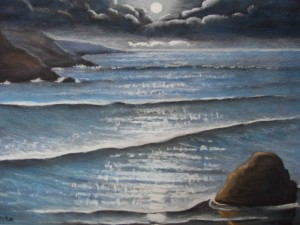 Moonlight by Brian Maddock, Pastel