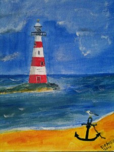 Lighthouse by Denise Burdin, Acrylic