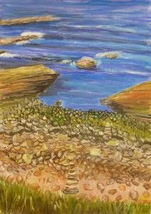 Orkney Sea by Heather Howieson, Acrylic