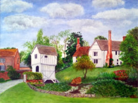 Brockhampton, Gloucestershire   in acrylic