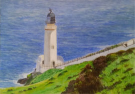 Lighthouse, Isle of Man   in acrylics