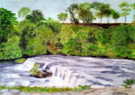 The Weir   in acrylics
