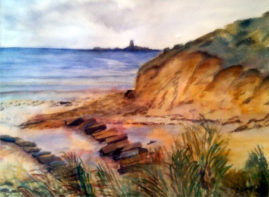 Alnmouth, Northumberland    water colour