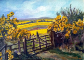 St Cuthbert's Way   acrylic painting