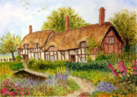 Anne Hathaway's Cottage    - watercolour