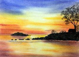 'Sunset'   in pastels