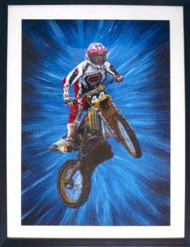 """Moto"" in acrylic"
