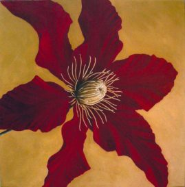 """ Clematis ""  in acrylic"