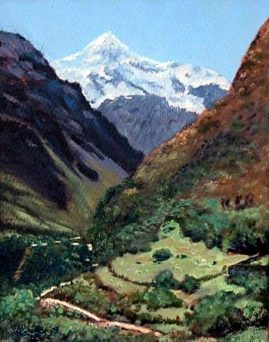 Peruvian Mountains   Water Colour  (Sold)