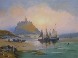Saint Michaels Mount by Ron Wood, Oil