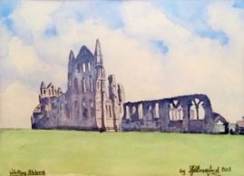 Whitby Abbey -  watercolour - 395 x 285 mm