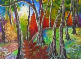 Autumn Shadows (Mixed med.)  Sold
