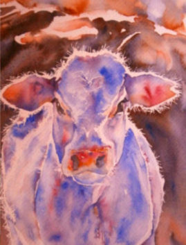 """Calf and Mother""  Sold"