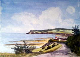 Robin Hoods Bay  -   water colour