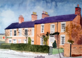 Stella House. Baldergate  - Water colour