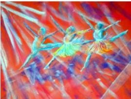 Dancers in Ballet   Watercolour NFS