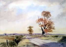 'Country Lane'  watercolour
