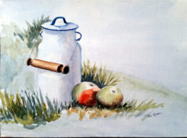 'Ready For Snack'    watercolour