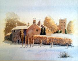 'Village in Winter '  watercolour
