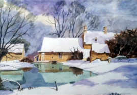 'Winter Scene'  watercolour