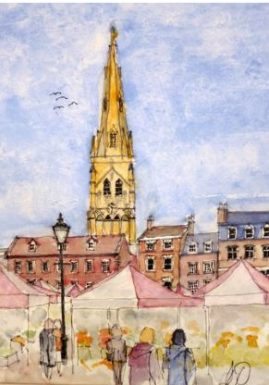 Newark Market   Watercolour  NFS
