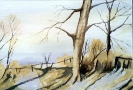 Autumn Scene  water colour