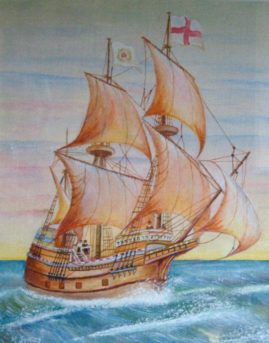"""The Mayflower"" in Acrylics"