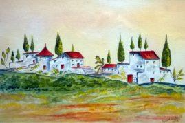 """""""Dreaming of Tuscany""""  medium - acrylics"""