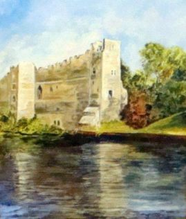 """Newark Castle"" - medium - acrylic"