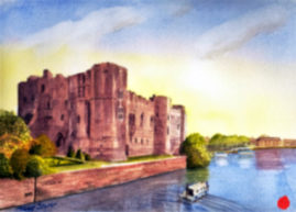 "15""x11"" watercolour, titled: ""Newark Castle"""
